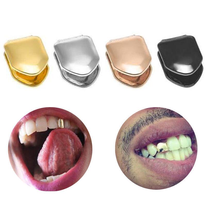1pcs Hip Hop Goldzahn Einzelzahn Solid Zähne Grillz Kappe Schimmel Zahnklammer