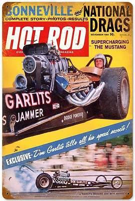 Hot Rod Magazine Drag Racing Don Garlits 1963 Metal Sign Man Cave Garage HRM022
