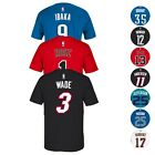 NBA Name & Number Player Jersey T-Shirt Collection by Adidas Majestic Men's