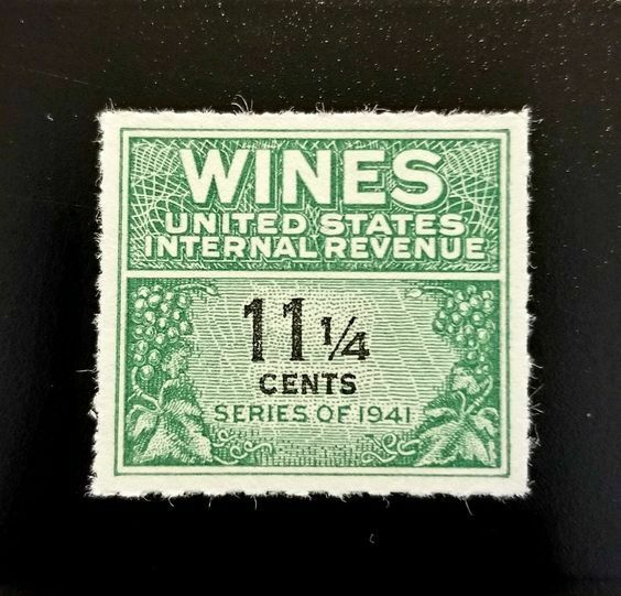 1942 11 1/4c U.S. Internal Revenue, Cordial & Wine, Gre