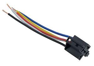Prewired 4 5 Pin Automotive Relay Socket Holder 40A 12V eBay