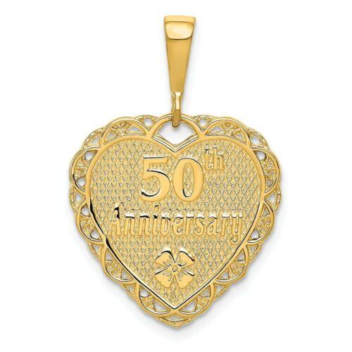 14K 50Th Anniversary Charm Pendant Yellow Gold