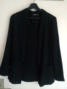 leichte-Sakko-Jacke-Blazer-von-GINA-TRIKOT-GR-36-S-schwarz-neu