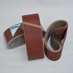 Bandes-abrasives-20-Ruban-ECKRA-100-x-610-P24-de-tissu-Papier-abrasif-Toile