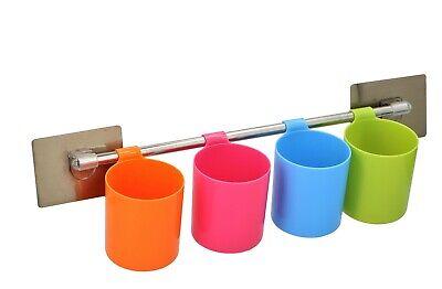 HaavPoois An der Wand montierter elektrischer Zahnb/ürstenhalter 2PCS Badezimmerhalter Kunststoffprodukte Zahnpasta-Aufbewahrungsregal