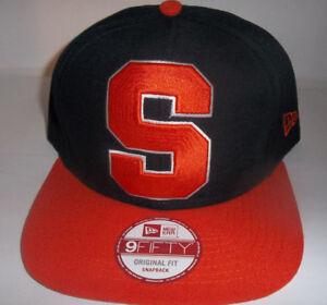 54899caa81f5f Syracuse Orange Su Hat Navy Big Logo S Adult Snapback Cap New Era ...