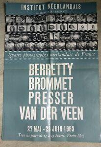 Poster-Expo-Photo-Berretty-Brommet-Press-Van-Der-Veen-1963-Institut-Neerland