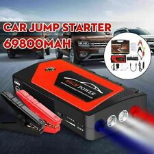 69800mah 12v Car Jump Starter Portable Charger Power Bank Battery Led Flashlight