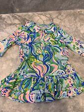 Lilly Pulitzer NWT Girls Amelia Polo Dress Multi Feline Good $62