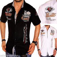 ZAHIDA Herren Hemd Herrenhemd Kurzarm Clubear Sommer Shirt WOW S M L XL XXL NEU