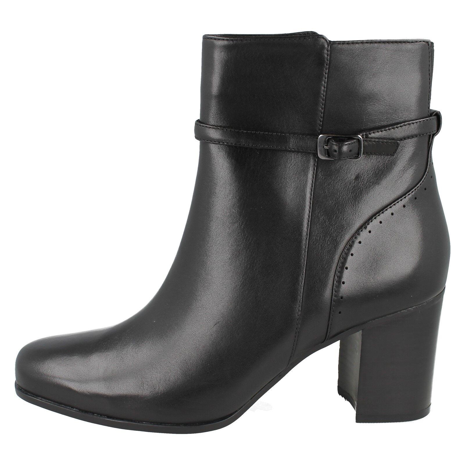 Damen Clarks Kensett Diana Leder Smart Hose Hose Hose Reißverschluss 4d1916
