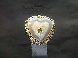 Ring-925-Silber-mit-Achat-Druse-Edelstein-24-Karat-999er-vergoldet-edel