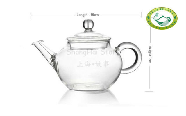 Glass Teapot Heat Resistant For Chinese tea 250ml /8.5oz