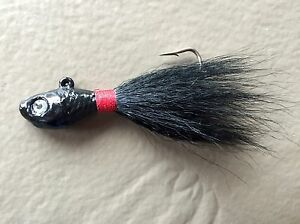 Two color 3D Eye Minnow Head Bucktail Jig 5 Pack