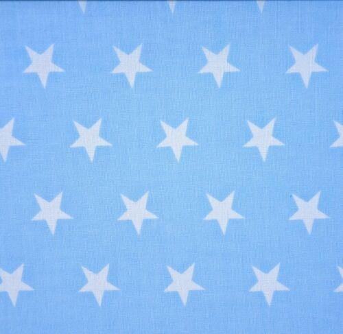 2,5 cm Muster Baumwollstoff Sterne auf blau