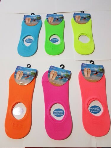ladies invisible with silicone pink orange green sportswear trainer socks new sp