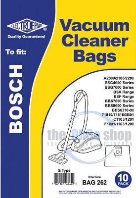 BSG7000 Series, 10 x BOSCH Vacuum Cleaner Cloth Bags G Type BSG4000 Series