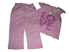 NEU toller Pyjama / Schlafanzug Gr. 110 / 116 rosa mit Peanuts Snoopy Motiv !!
