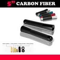 Universal 5 Inch Black Aluminum Carbon Fiber Short Radio Antenna Screw Car
