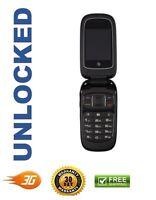 Zte Z223 Black At&t Unlocked Cellular Gsm 3g Basic Flip Phone