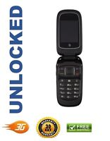 Zte Z223 Black At&t Unlocked Cellular Gsm 3g Basic Flip Phone