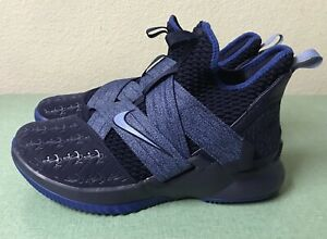 promo code 3bf79 48b2a Details about Nike LeBron Soldier XII 12 Anchor Blackened Work Gym Blue  Mens Sz 9 Basketball