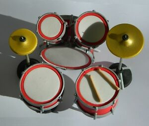 1 edible DRUM KIT cake TOPPER decoration ROCK N ROLL music ...