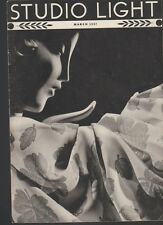 Studio Light Magazine Photography Eastman Kodak March 1937 Eastman Acetate Yarn