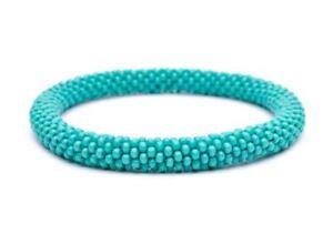 Genial Sashka Solid Türkis C2 Glasperlen Rolle Armband Nepal Fair Trade + Wickel Entlastung Von Hitze Und Sonnenstich