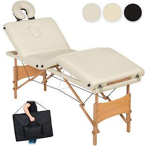 Table de massage 4 zones cosmetique lit esthetique pliante bois reiki sac ebay - Table de massage pliante ebay ...