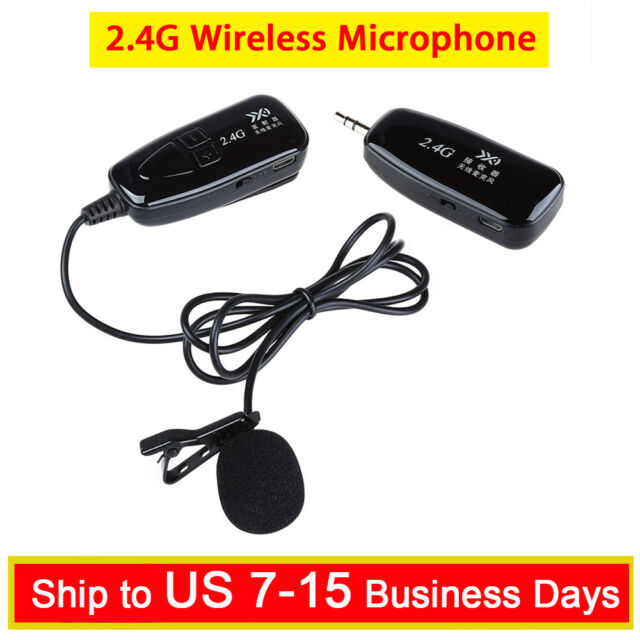 328ff7b1bfb Wireless 2.4G Lavalier Mic Microphone Voice Amplifier 30m For Teaching  Meeting