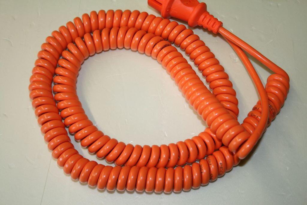 Wendelleitung H05BQ-F Gummi, 2x1mm;  5m, W2810, Geräteanschluss, Spiralleitung | Deutschland Online Shop