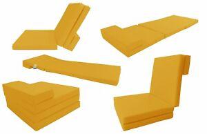 Yellow Foldable Floor Cushion Foam Mattress 83 X 27 X 3