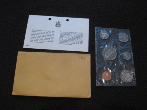 1969 Canada Prooflike Set incl Envelope and COA