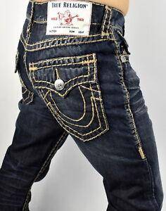 True-Religion-Men-039-s-Ricky-Relaxed-Straight-Super-T-Brand-Jeans-101974