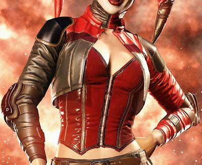 Injustice 2 Harley Quinn Leather Jacket Fancy Dress Halloween Cosplay