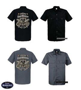 Hd MotociclistaOldschoolmotiv Camicia 2 Worker Modello Vintage Tonalità lJF15u3TKc