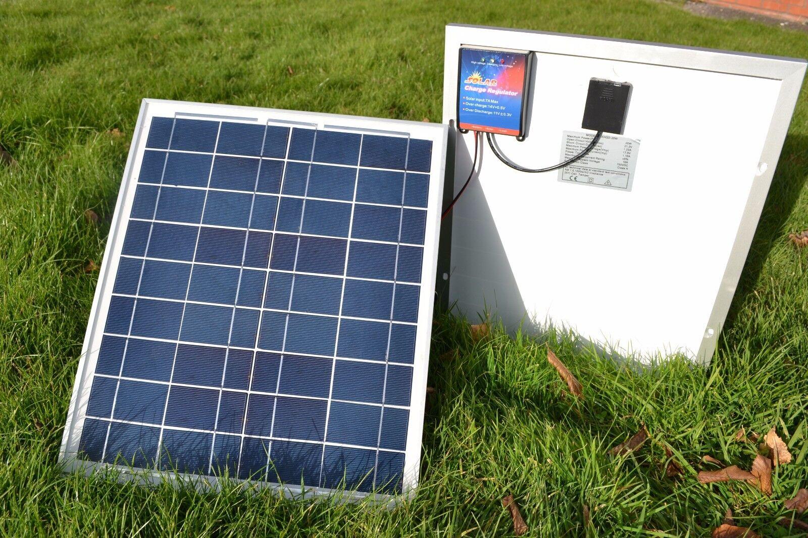 20 - Watt Solar Panel for Microcat & Technicat Bait Boat Batteries 12v
