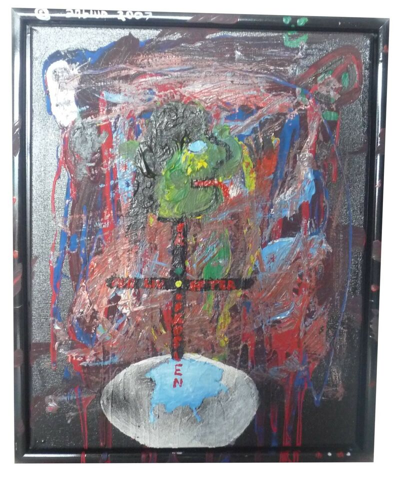 Akrylmaleri, Anbiun, motiv: Religiøs/Spirituel