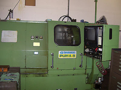 Daewoo Puma 8 CNC lathe year 1986