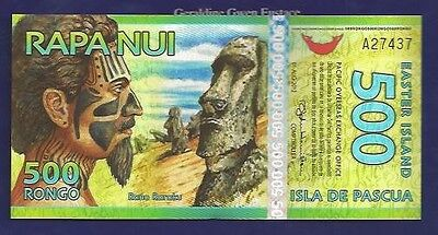 Tribesman Easter Island Polymer plastic Stone Heads 1000 rongo 2011 Note