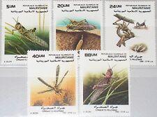 MAURITANIA MAURETANIEN 1988 950-54 Wanderheuschrecke Locust Insekten Insects MNH