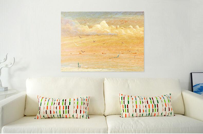 3D Golden Beach Welle  Vögel 86 Fototapeten Wandbild BildTapete AJSTORE DE Lemon