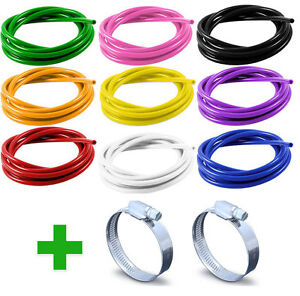 Silicone-Vacuum-Hoses-Hose-Clips-Tube-Rubber-Air-Water-Coolant-Oil-Turbo