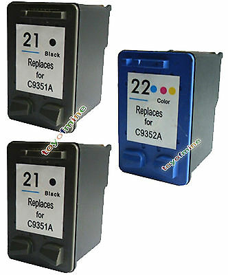 3x HP 21 22 INK CARTRIDGE for 1410 5610 F2179 PRINTER