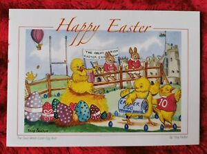 The great Welsh Easter egg hunt - Easter Card - Tony Paultyn