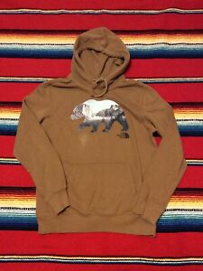 The North Face Men's Pullover Hoodie Sweatshirt Size LARGE Grizzly Bear Yosemite