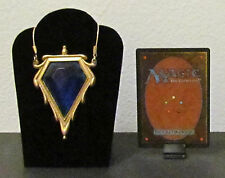 MTG Magic the Gathering - MOX SAPPHIRE Pendant / Necklace - Custom Very Nice