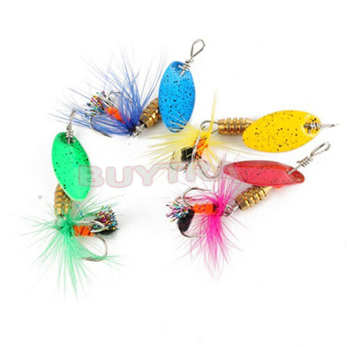 Lot 4pcs Fishing Spinner Spoon Baits Lures Fishing Swim Bait Lure Crankbait/_WK