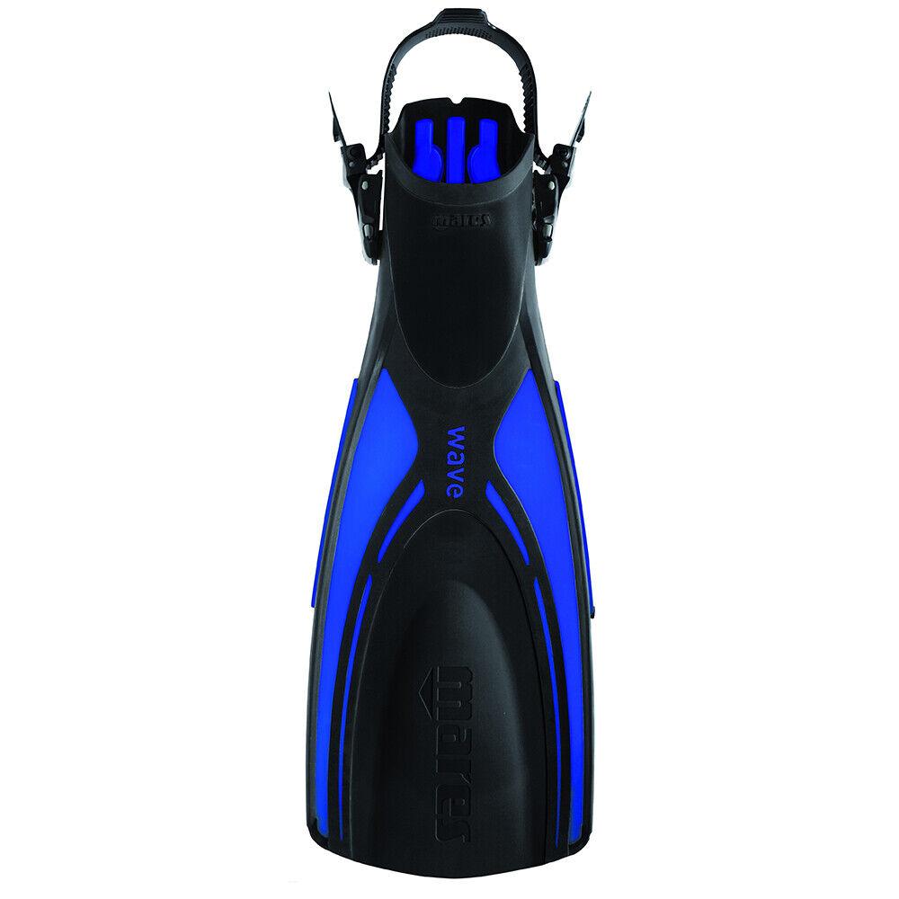 MARES WAVE Scuba Divers Snorkelling OPEN HEEL Fins Flippers  blueeE  SIZE R XL